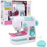 Zerodis Mini Tragbare kindernähmaschine elektrische mittelgroße Nähen Stil Handwerk Kit Spielzeug pädagogisches interessantes Spielzeug für Kinder Mädchen Kinder