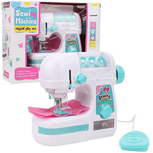 Children's Sewing Machine Toys, Educational and Interesting Electric Medium-Sized Sewing Machine Toys, Real Action Educational Manual Electric Children's Sewing Machine Toys, Children Girls Kids