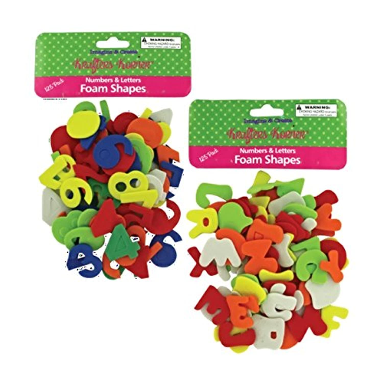 JT Crafts Numbers Letters Foam Shapes Set-12 Pack