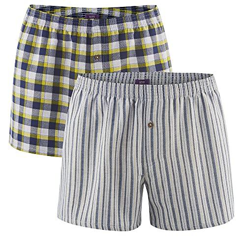 Living Crafts Boxer-Shorts, 2er-Pack XXL, Navy Grey/Brass