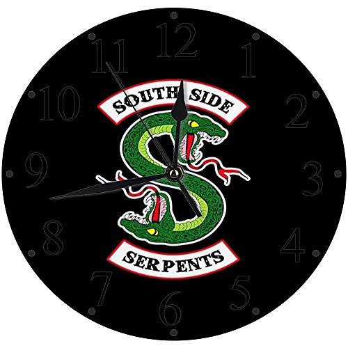 Yaoni lautlosem Uhrwerk - 30 cm Rund Wanduhr,Riverdale - South Side Serpents,für Wohn- /Schlaf-Kinderzimmer Büro Cafe Restaurant