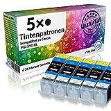 Set 5X Tintenpatrone XXL für Canon PGI-550 XL BK/Schwarz Canon Pixma IP 7250 IP 8750 IX 6850 MG 5450 MG 5550 MG 6350 MG 6450 MG 7150 MX 725 MX 925