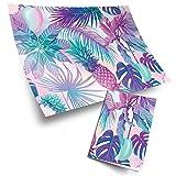 4 rollos de papel ecológico de 70 x 50 cm, diseño de plantas tropicales, flores de piña, hojas de...