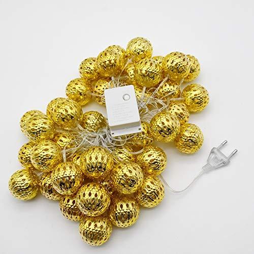 Warme 220 V stekker globe lichtketting 6 Mt LED goud voor slaapkamer gordijn terras gazon landschap fee tuin huis bruiloft