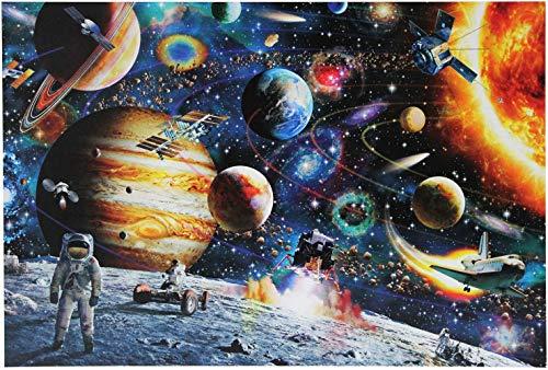 HARD LAND Jigsaw Puzzle Space Puzzle 1000 Pezzi per Adulti Star Wars Galaxy Sistema Solare Spazio Esterno Pianeti e Astronauta