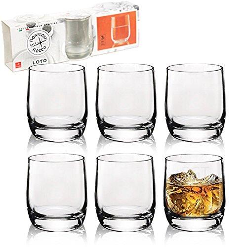URBN-CHEF 6x Bormioli Rocco Sorgente Drinking Glass 30cl Ocean Blue