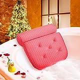 ESSORT Badewannenkissen, 4D-Air-Mesh-Technologie Komfort badewanne kopfkissen mit 5 Saugnäpfen ist weich und atmungsaktiv badewanne nackenpolste für Home Spa...
