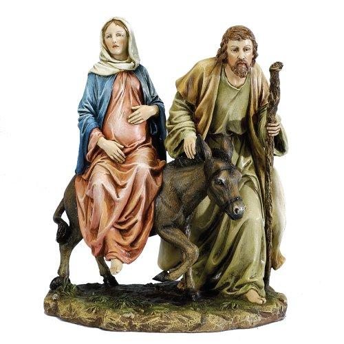 Joseph's Studio 10' La Posada The Lodging Figure-Joseph with Mary Riding on Donkey on Their Way to Bethlehem