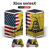 Xbox series X controller cover sticker protective case, Dont Tread on Me American Flag Xbox series X full controller package decal protective cover (compatible with Xbox series X console)