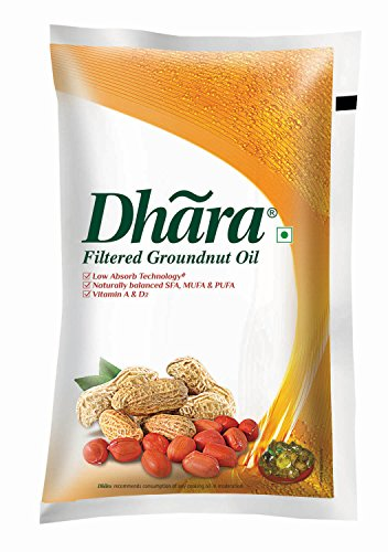 Dhara Groundnut Oil Pouch, 1L
