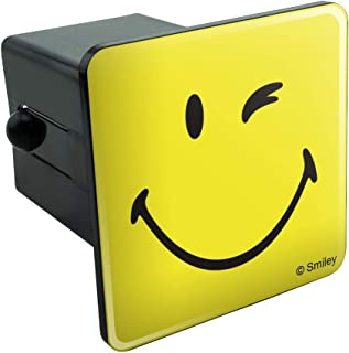 Graphics and More Smiley Smile Happy Wink Yellow Face Tow Trailer Hitch Cover Plug Insert 2