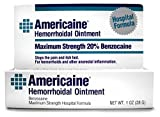 Americaine Hemorrhoidal Ointment | Maximum Strength | 20% Benzocaine | 1 oz | Pack of 6