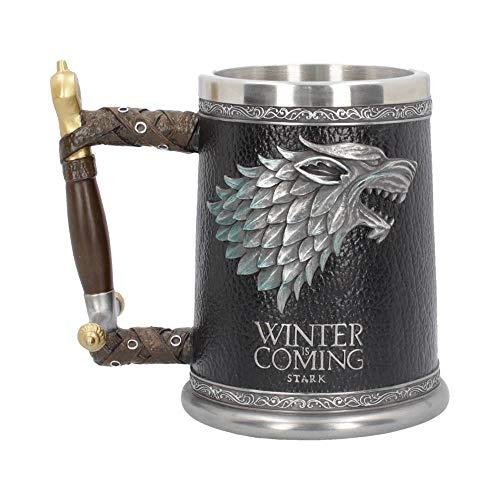 Juego de Tronos lanzador de lujo 3D Shadow Wolf Se acerca el invierno cresta decoración gris 600ml