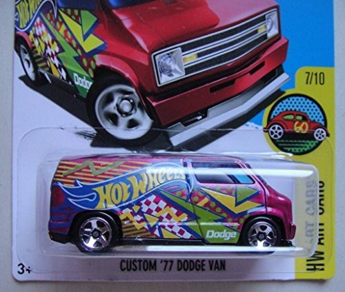 HOT WHEELS HW ART CARS 7/10 CUSTOM '77 DODGE VAN 197/250 SHOWDOWN SCAN & RACE CARD by Hot Wheels