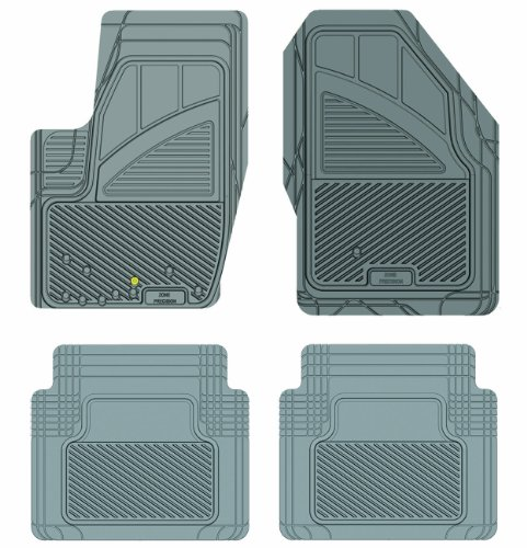 Koolatron Pants Saver Custom Fit 4 Piece All Weather Car Mat for Select Ford Focus Models (Grey)
