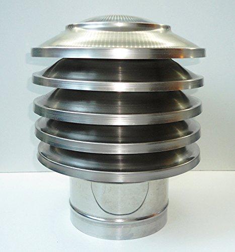 Cubierta de chimenea de acero inoxidable anticorriente de aire, de kamininox