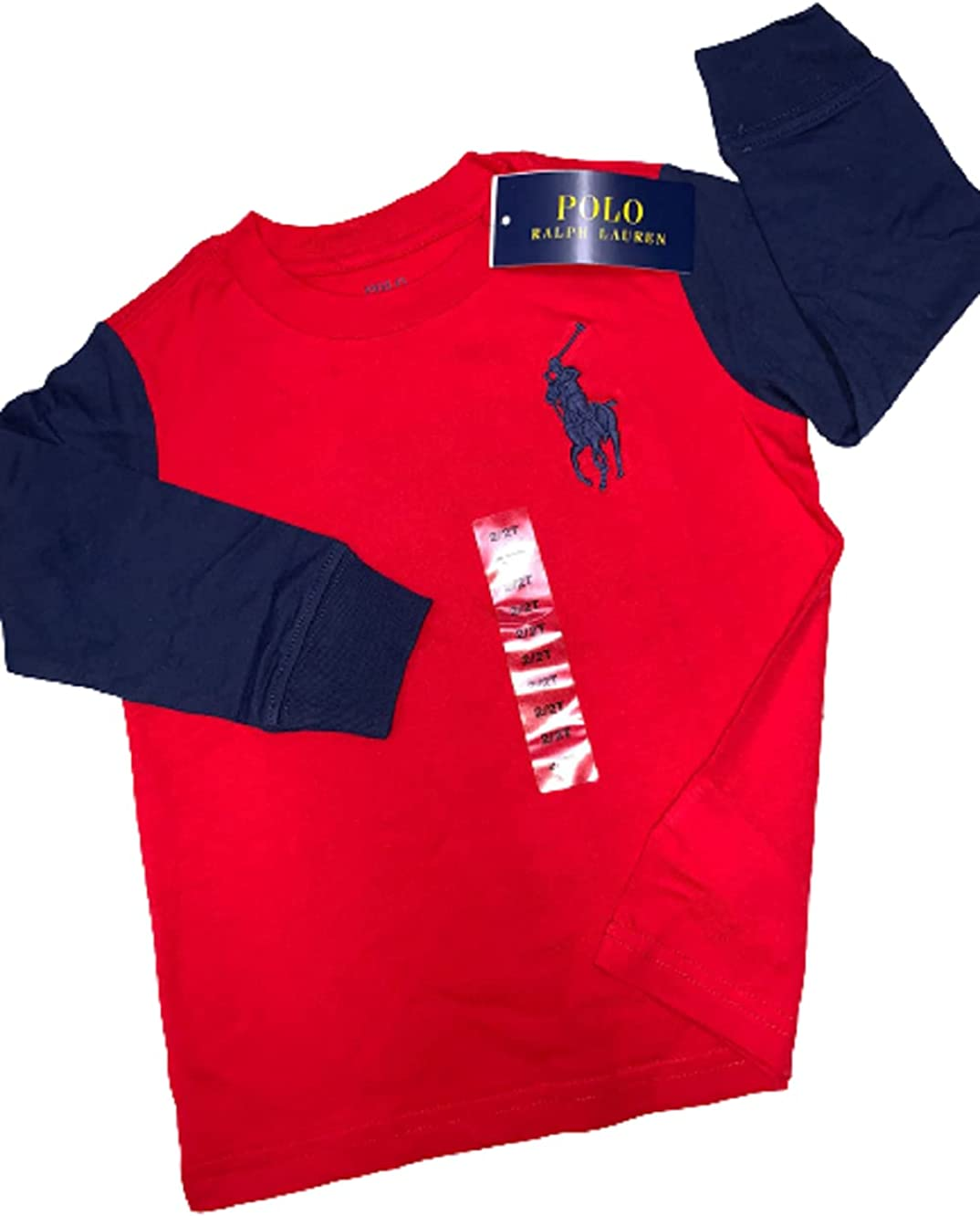 Polo Ralph Lauren RED Boys Large Logo Polo Tee, US 2T