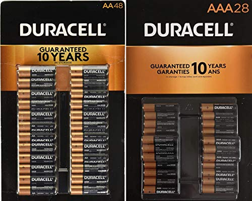 Duracell CopperTop Alkaline Batteries Variety Pack - 48 AA Batteries & 28 AAA Batteries Valuepack