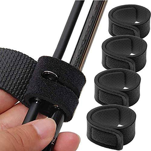 Myhonour Angel Rutenbänder Klettbänder Rutenklettband für Angelruten Neopren Rutenbänder Spanngurte 5 Stück