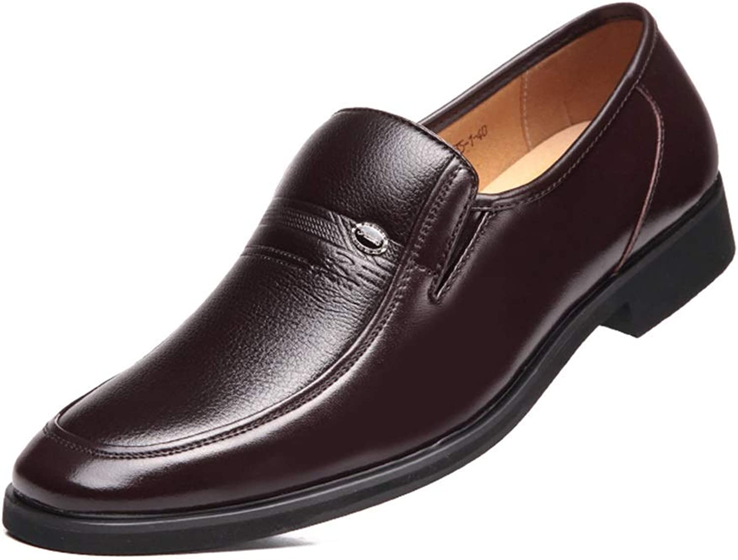 Suit shoes Business Casual shoes Round Head Casual shoes Trend Low to Help Dad shoes Driving shoes (color   Brown, Size   41)