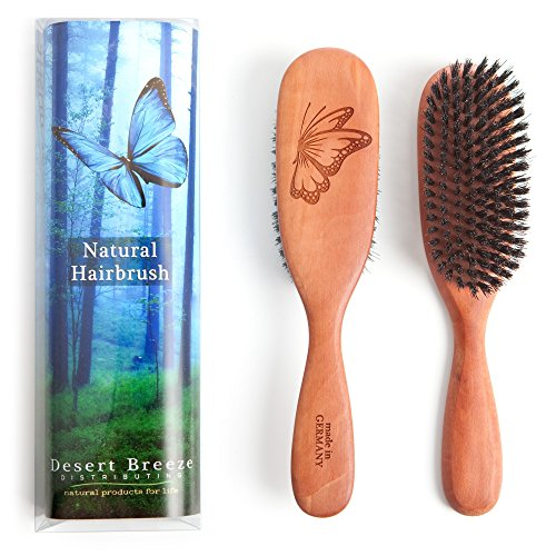 Made in Germany, 100% Pure Wild Boar Bristle Hair Brush