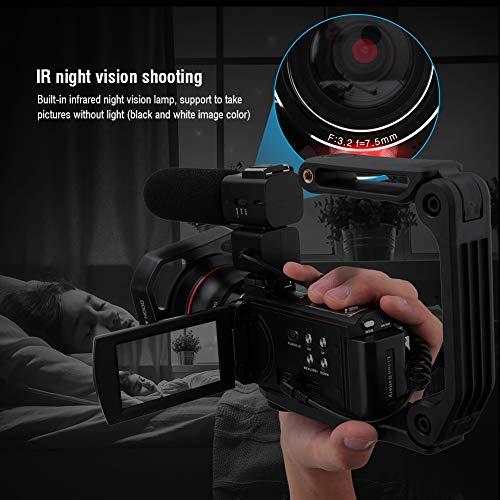 HDR-AE8 videocamera camcorder 4K HD 16X zoom WIFI digitale camera 3.0 inch touchscreen vlogcamera webcam, 270 graden draaibaar scherm, ondersteunt IR nachtzicht (zonder batterij)