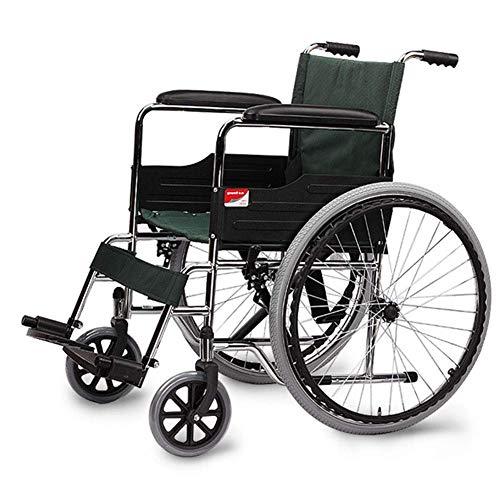 OSL Silla de ruedas plegable ligera Manejo médico, silla de ruedas multifuncional Scooter portátil Ancianos Ancianos Discapacitados Silla de ruedas OSL