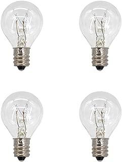 4 Pack Wax Warmer Bulbs,20 Watt Bulbs for Middle Size Scentsy Warmers,G30 Globe E12 Incandescent Candelabra Base Clear Light Bulbs for Candle Wax Warmer,Long Last Lifespan