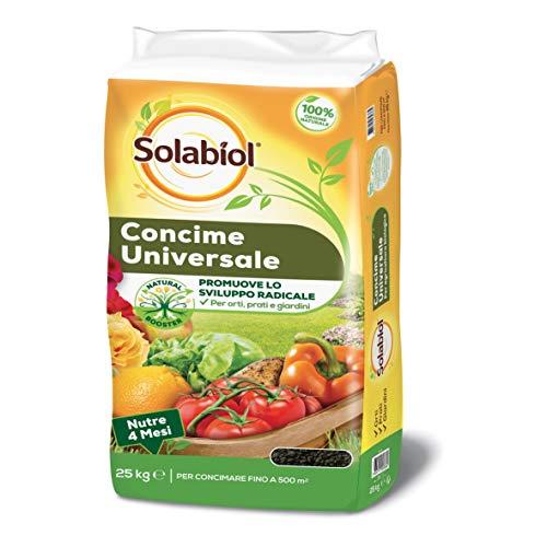 Solabiol Concime Granulare Biologico Orti e Giardini con Tecnologia Natural Booster, 25 kg