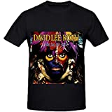 Gilbert Joyce David Lee Roth Eat Em and Smile Soul Mens Crew Neck Funny T Shirts Black(Size:XXL