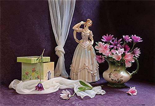 5D diy Artesanía diamante pintura diamante bordado florero cesta flores punto de cruz muñeca de dibujos animados Diamante redondo 40x60cm