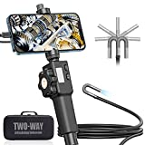 Articulating Endoscope for iPhone, Teslong Visual Automotive Inspection Camera with 2-Ways & 180 Degrees Articulates Probe, Flexible Gooseneck Borescope Work with iPhone, Android Smartphone(3.2ft)