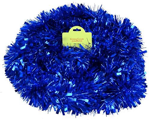 Christmas Concepts 3m / 9.8ft Orpello di Natale Grosso/fine - Decorazioni Natalizie - Tinsel di Alta qualità (Blu)