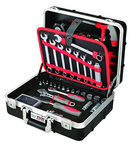 Tixit Werkzeugkoffer ABS-Allrounder | 92-teilig | für Mechaniker, Montage & Hobby