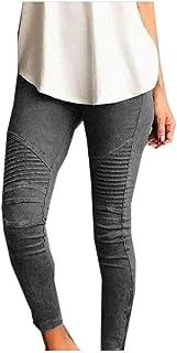 Howely Women Plus Size Body Enhancing Long Pants Casual Weekend Leggings