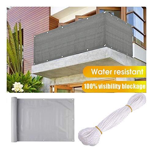 GDMING Pantalla para Balcón Privacidad Al Aire Libre Cubierta Terraza Pabellón Toldo 100% De Bloqueo De Visibilidad Protector Solar Decoración con Ojales Y Cuerda PVC Personalizable