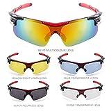Occhiali da Sole Ciclismo, TOMOUNT Occhiali da Sole Sport Outdoor, 5 UV Lenti...