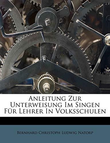 Bernhard Christoph Ludwig Natorp: Anleitung zur Unterweisung