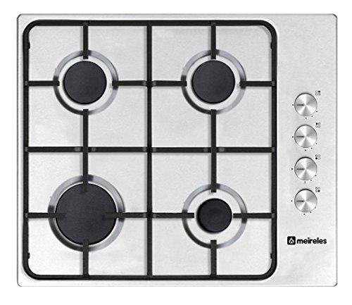 Meireles MG 3640x eingebaut Gas Kochfeld Edelstahl–Platte (integrierte, Gas Hob, Edelstahl, Edelstahl, emailliert, Rotation)