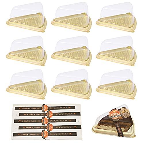 50 piezas de cajas de torta de postre, caja de plástico transparente para tartas de postre, para tartas de queso, pudín, sándwiches, almacenamiento de exhibición de sushi