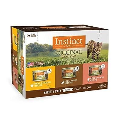 Instinct Original Grain-Free Pate Recipe Variety Pack Wet Cat Food, 3 oz., Count of 12