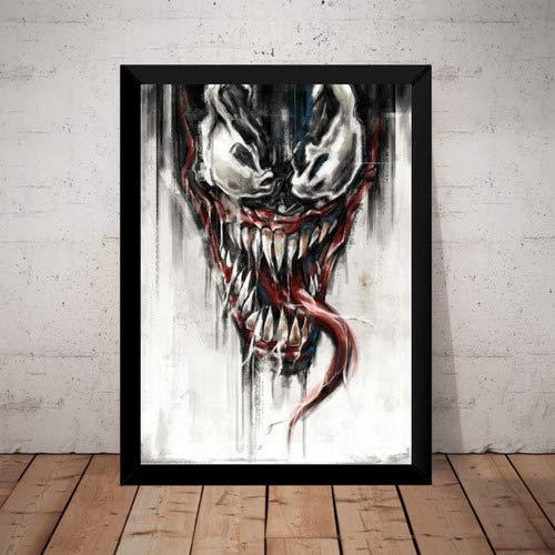 Quadro Decorativo Venom Vilão Homem Aranha Hq Arte