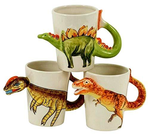 Giftworks Taza de Dinosaurio Calidad 3D Diseño de cerámica Aleatorio Nuevo y...