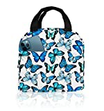 Lunch Bags for Women with Containers Butterfly Insulated Lunch Box Freezable Cooler Thermal Waterproof Women Lunch Tote Bag for Work