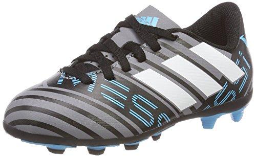 adidas Unisex-Kinder Nemeziz Messi 17.4 FxG Fußballschuhe, Grau (Grey/Footwear White/Core Black), 28 EU