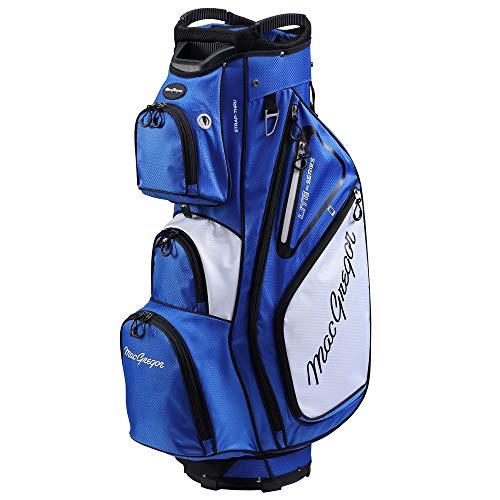 """MacGregor Golf VIP Deluxe 14-Way Cart Bag, 9.5"""" Top- Blue/White"""