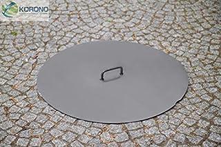 Korono Abdeckung Deckel Durchmesser 60 cm Stahl - für Feuerschalen / Feuerkörbe