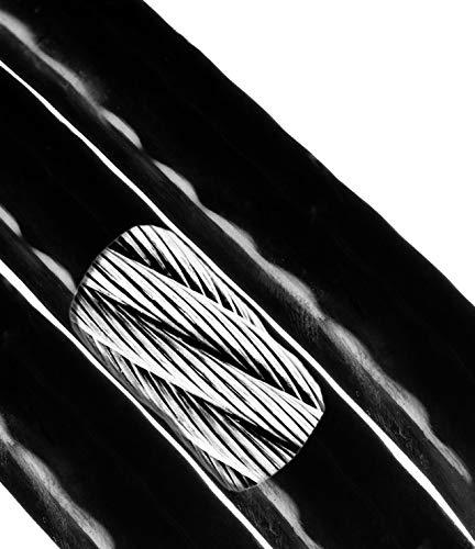 "Cable Wire Picture Hanging Kit Frames Picture Hangers Picture Hanging Wire Craft Wire for Large Picture Frames Vinyl Cable Black 1/16"" - 3/32"" (7x7) (100 Ft) Super-Deals-Shop"