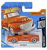 Hot Wheels '49 Ford F1 (naranja) 5/10 Rod Squad 2020 - 120/250 (tarjeta corta) GHF77