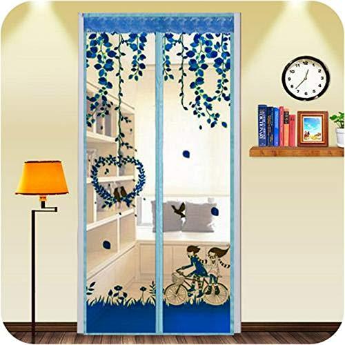 Anti-Moskito-Bildschirm Tür Sommer Anti-Moskito-Vorhang Verschlüsselung magnetische Tür Bildschirm hochwertige magnetische Mesh-Bildschirm Tür A1 B90xH210